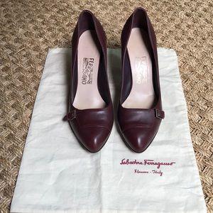 Salvatore Ferragamo oxblood heels size 9.5 B